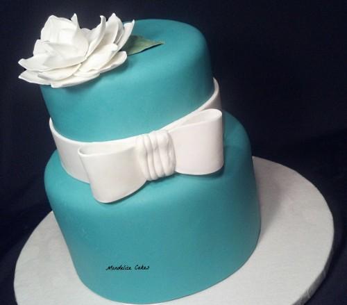 Wedding Cake Turquoise Fiancailles
