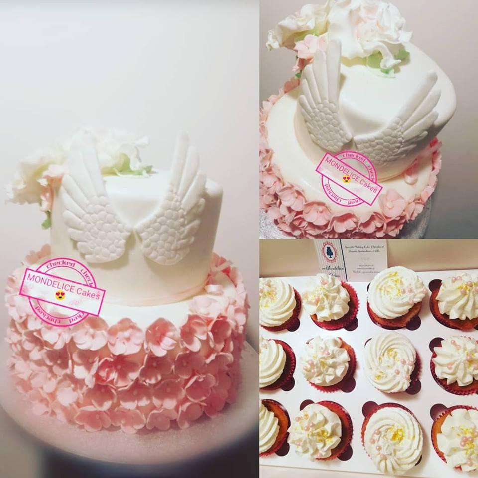 Cake Bapteme Girl Ange
