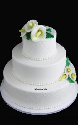 Cake simple Blanc fleur Arum