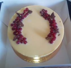 Entremet Chocolat Blanc & Fruit Rouge