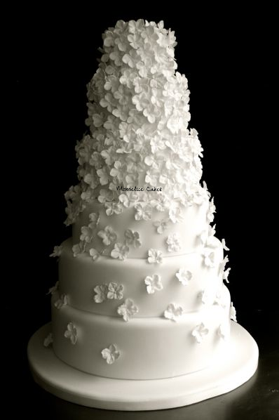 Wedding Cake Glamour Blanc et Fleurs