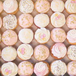 Cupcakes rose parme
