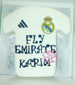 Cake Maillot Real Madrid #foot #realmadr