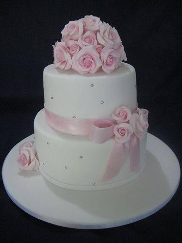 Wedding Cake Blanc & Rose 2