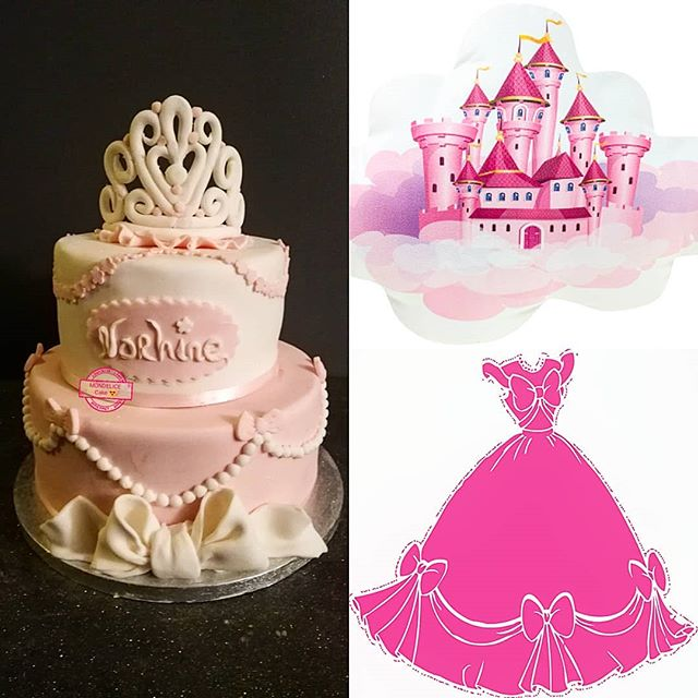 👸👸 Princess Cake 👸👸_Raspberry & Whit