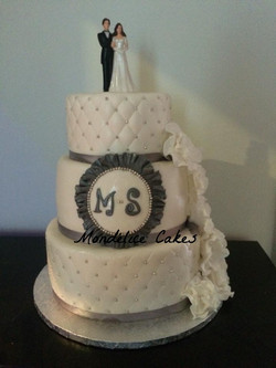Cake Blanc quilted & Rose blanche