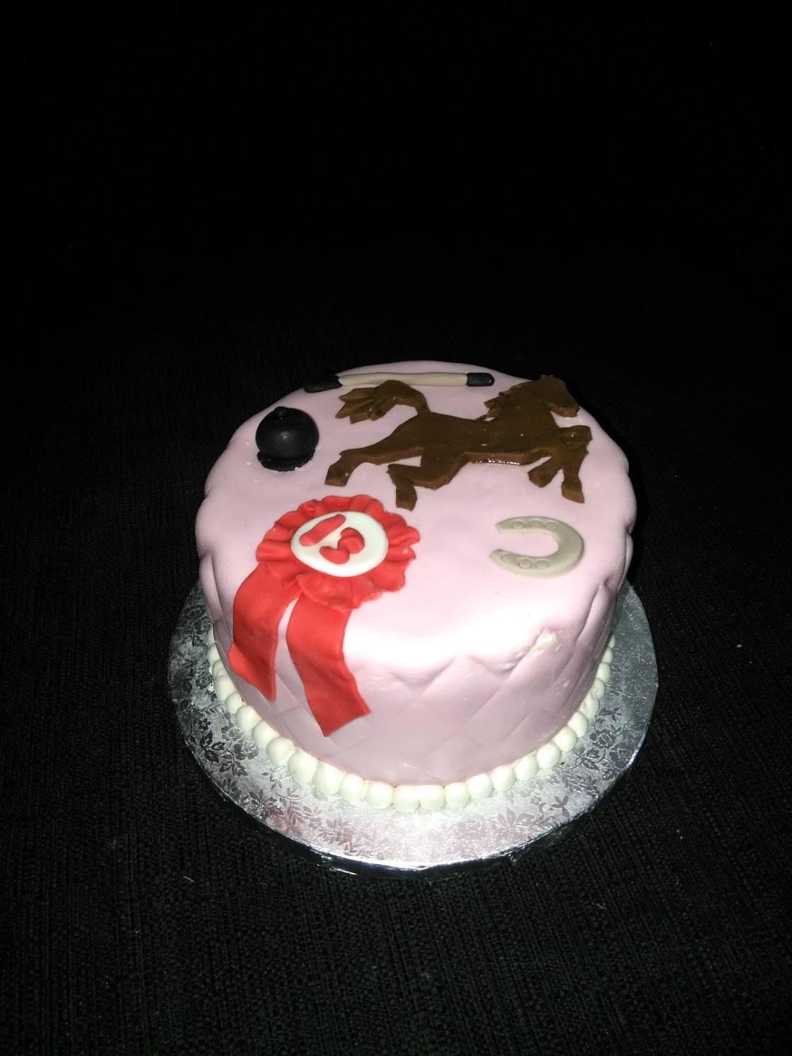 Cake équitation