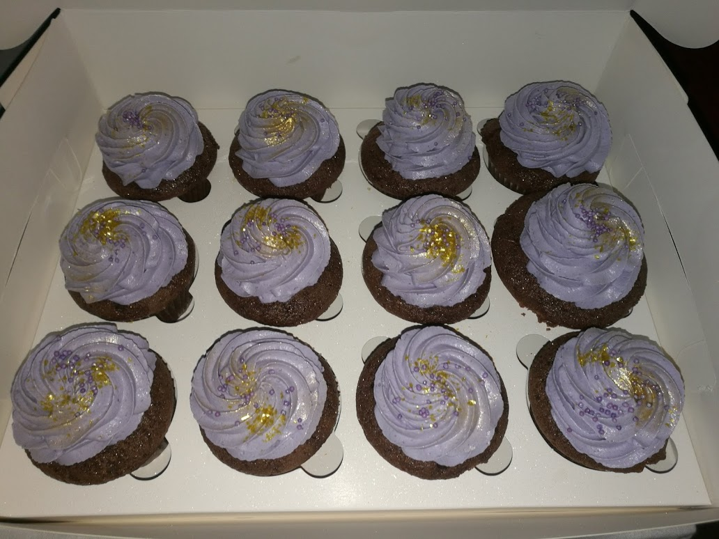 Cupcakes Nutella violette