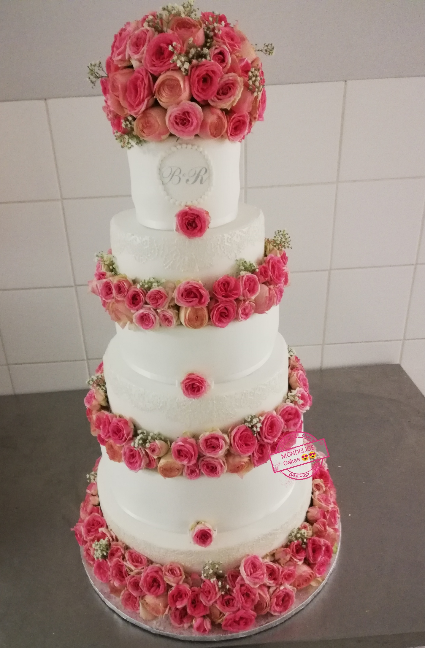 Wedding Cake Lace sequins and Flower
