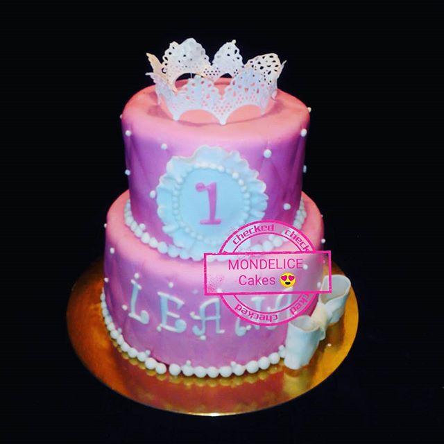 Cake Princess 👸👸 vanille & fraise #cak
