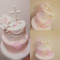 Cake Bapteme Girl