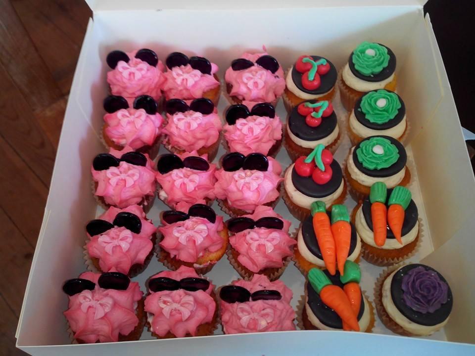 Cupcakes Thème Minnie & Légume