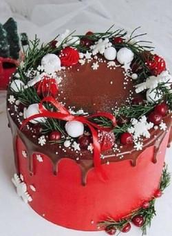 Red velvet buche