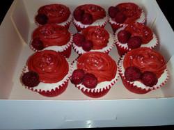 Cupcakes Red Velvet Framboise & Vanille