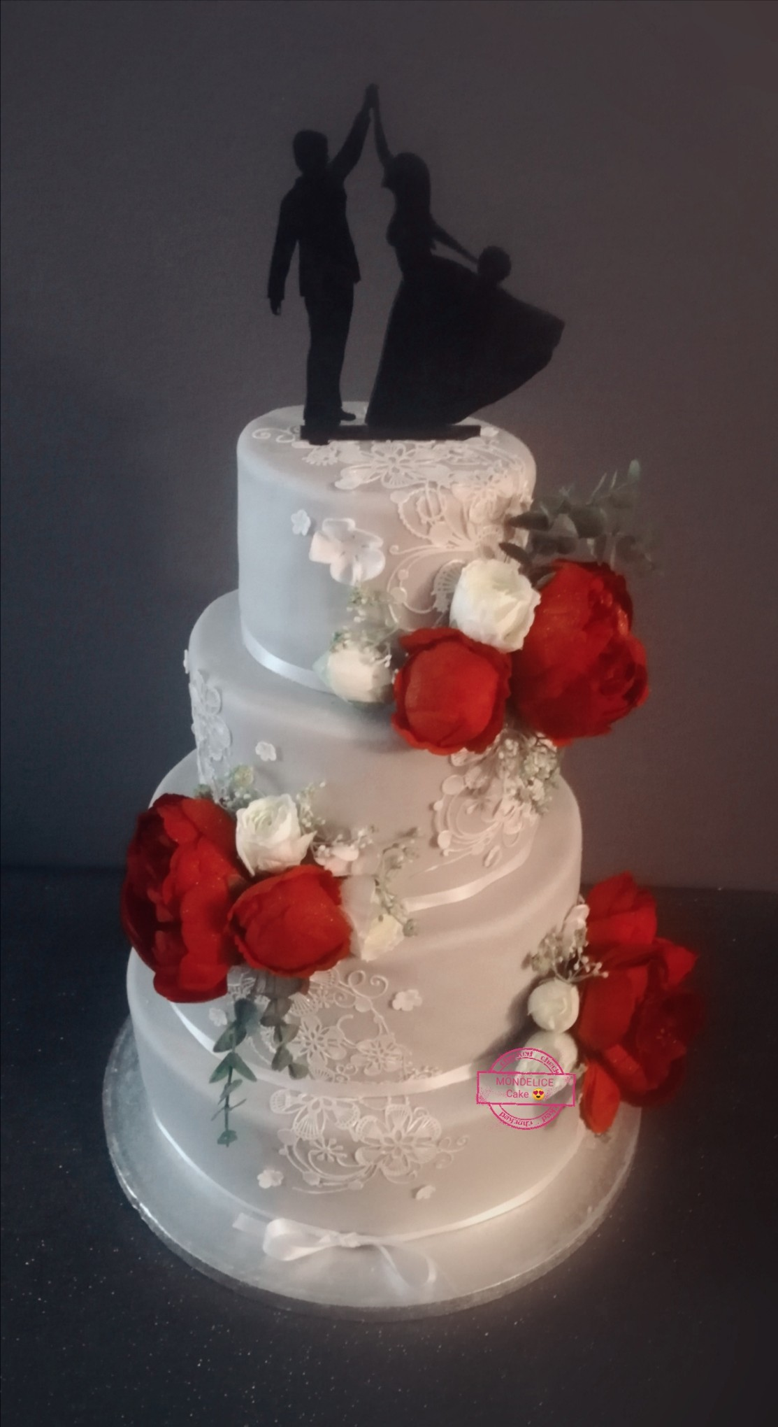 Wedding Cake Lace and Flowers