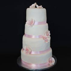 Cake Simple blanc et Rose