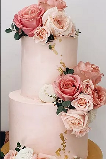 LAYER CAKE FLOWERS ET FEUILLE D'OR