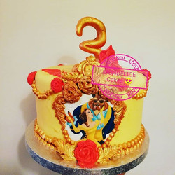 Cake Belle et la Bête 😍😍_#labelleetlab