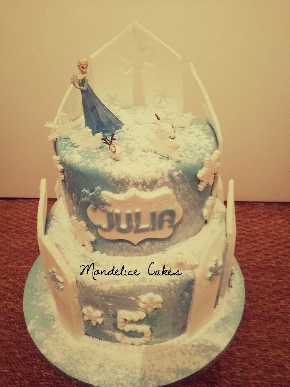 Cake Reine des neiges