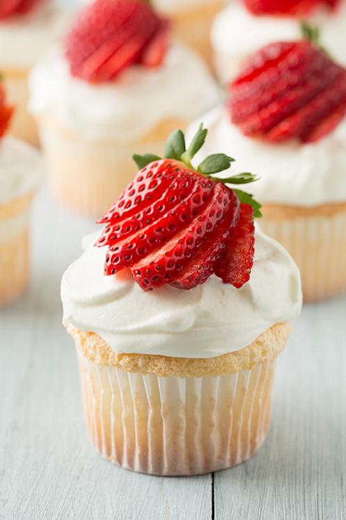 6 Cupcakes Fraise