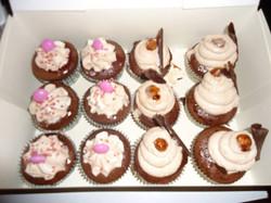 Cupakes_Chocolat_cœur_ganache_Framboise.._Cupcakes_Chocolat_Cœur_ganache_Nutella