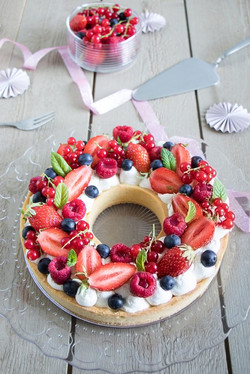 Tarte couronne aux fruits rouges - Pâte