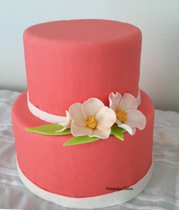 Wedding Cakes Rose orange & Blanc