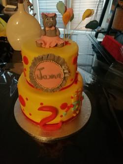 Cake ourson girl
