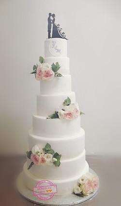 Wedding White Flowers pink