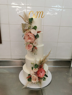 Layer cakes flowers rustique