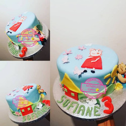 Cake Peppa Pig & Petit Ours Brin