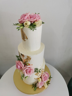Layer cakes flowers pink