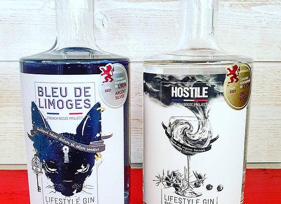 "Pack découverte Gin ""Bleu de Limoges"" + ""HOSTILE"""