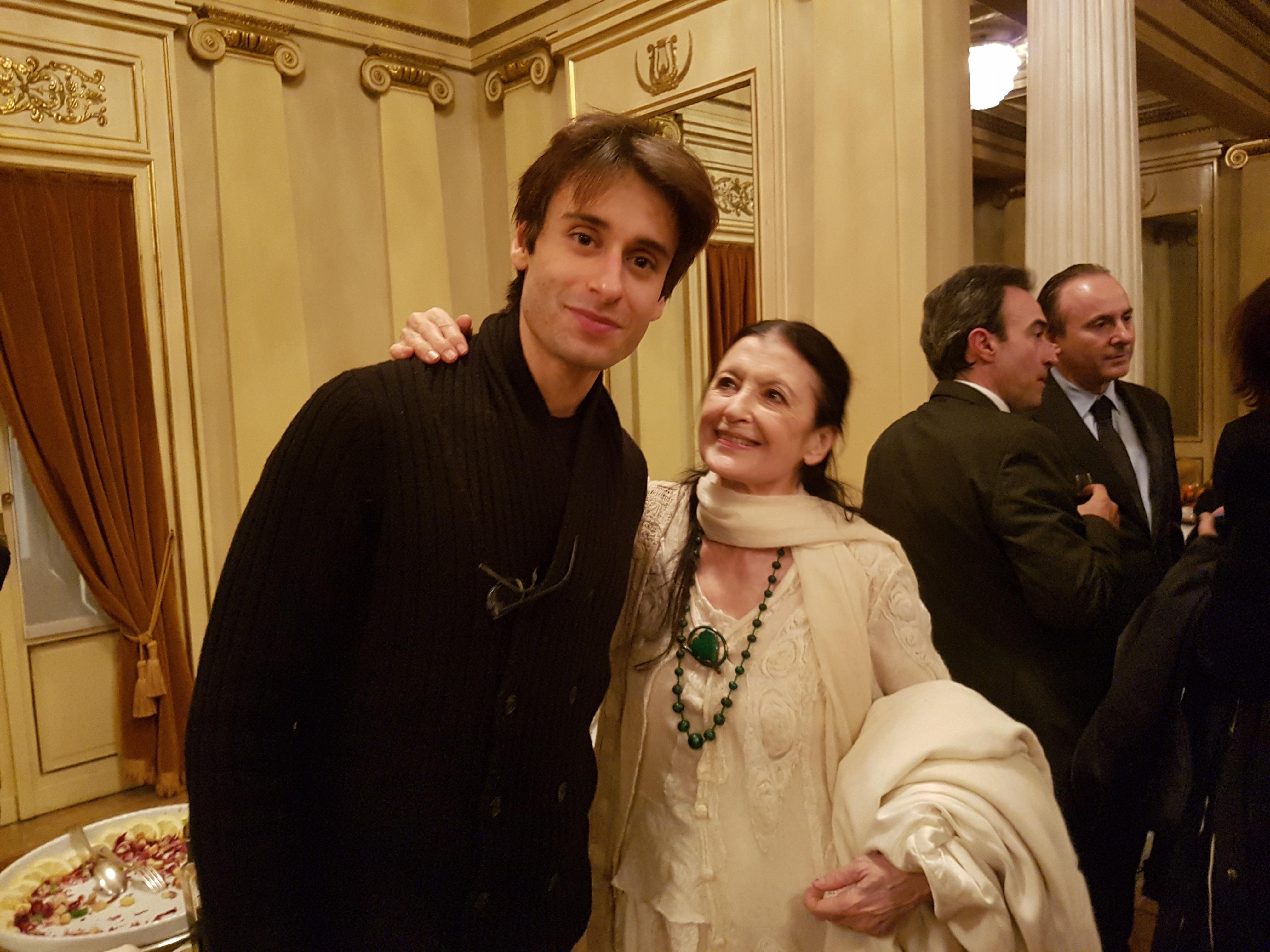 Marco Agostino and Carla Fracci