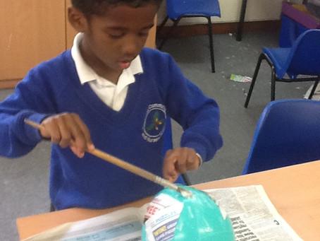 Willow class creating dinosaur eggs