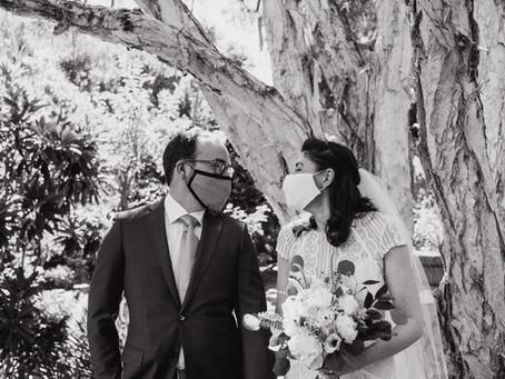Stephanie + Jack's Micro Oakland Backyard Wedding