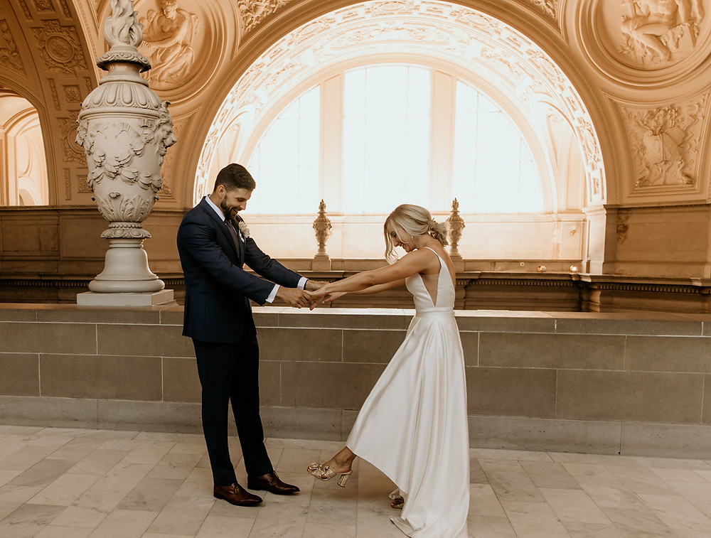 First look at San Francisco City Hall, for a contemporary city wedding