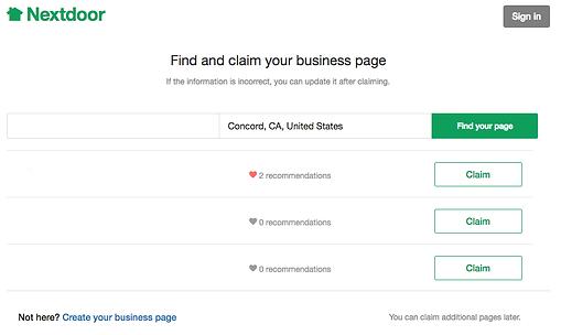 Claim your business on Nextdoor