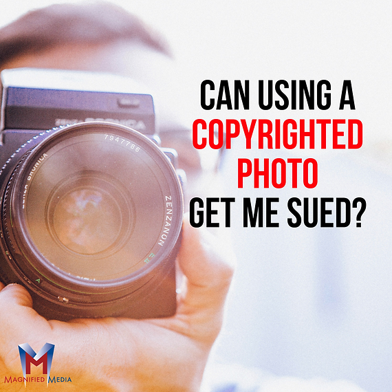 Magnified Media-Can Using a Copyrighted
