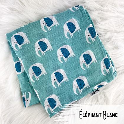 Elephant Blanc - Doudou Mousseline