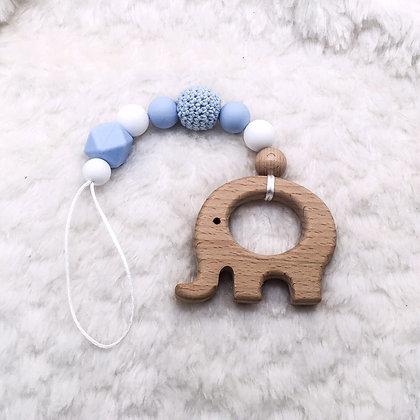Elephant bleu - jouet de dentition