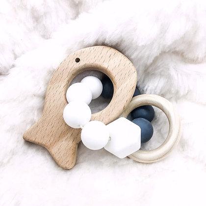 Poisson gris - jouet de dentition
