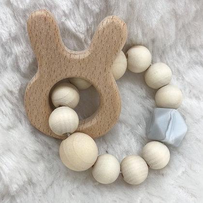 Lapin et bois - jouet de dentition