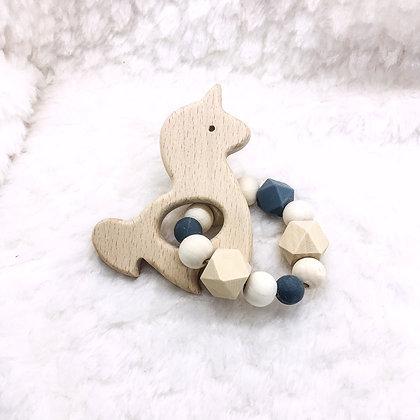 Licorne et gris - jouet de dentition