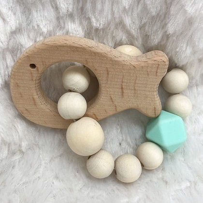 Poisson et bois - jouet de dentition