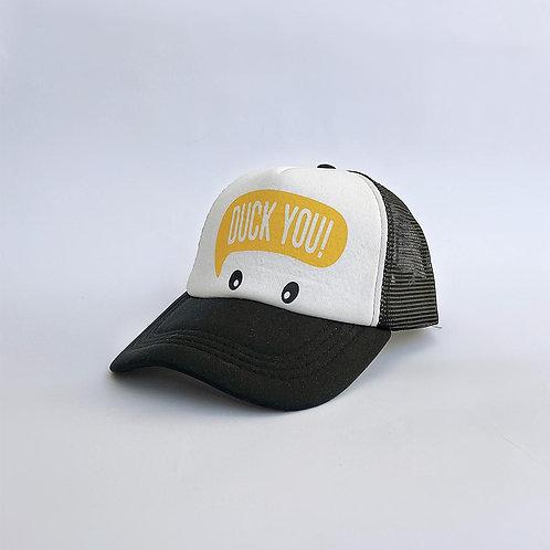 """כובע ממותג """"duck you"""""""