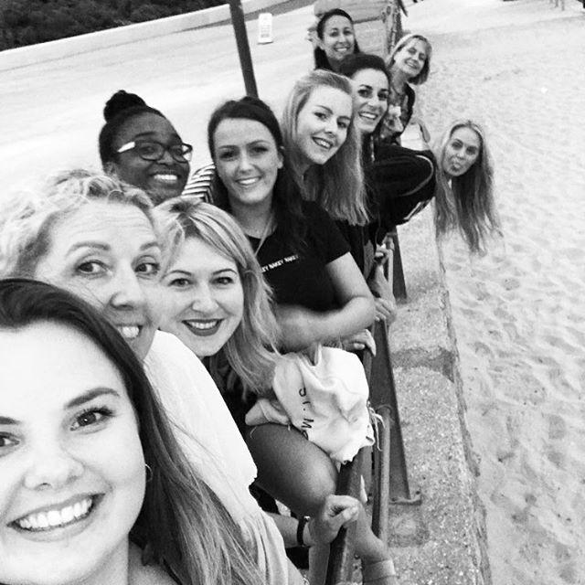 Club trip to the beach #girlsontour  #ne