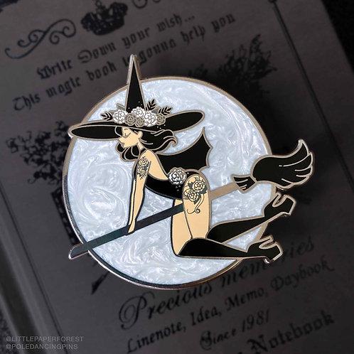 Witch (Light Skin) Pole Dancing Enamel Pin