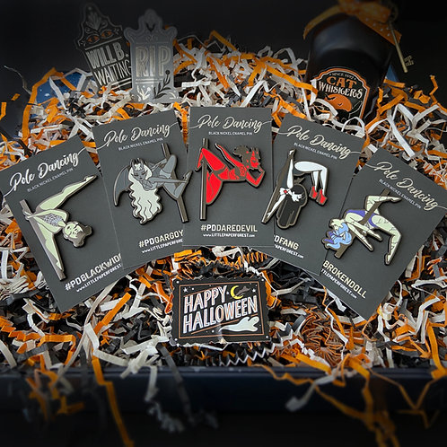 Halloween Pole Dancing Pin Collection (All 5 Pins!)