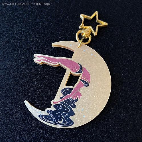 Crescent Moon (Gold) Acrylic Charm